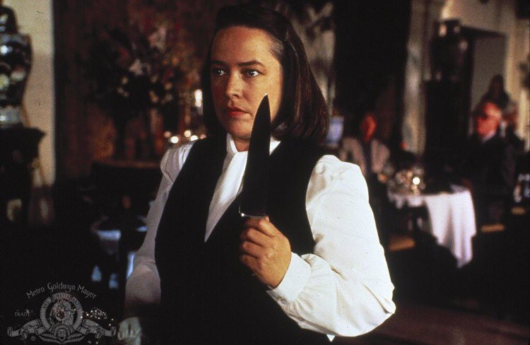 #KathyBates won a #GoldenGlobe and an #Oscar for her role as Annie Wil...