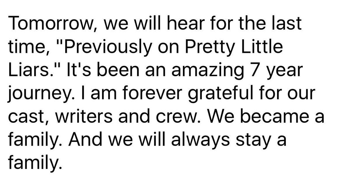 Thank you world wide PLL family. https://t.co/hDThinyKp0