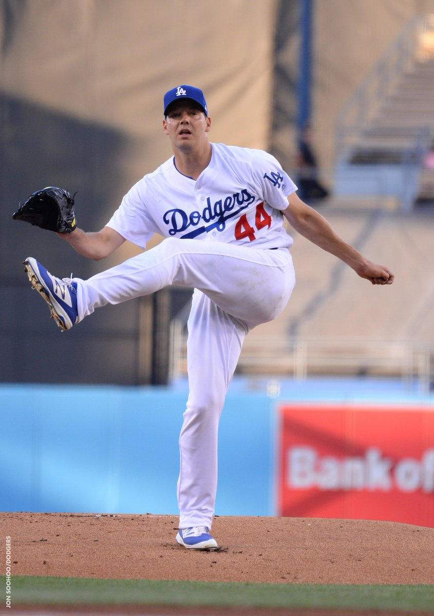 Rich Hill's night is over after seven innings. Luis Avilan will take t...