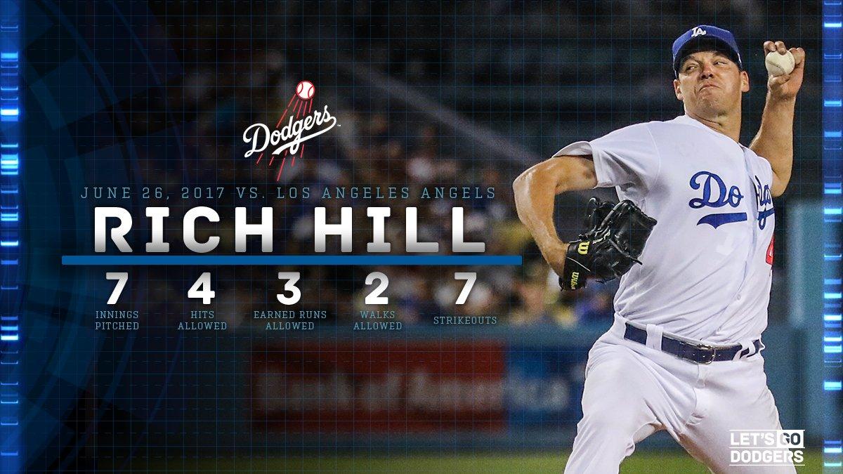 Rich Hill's final line tonight. #LetsGoDodgers https://t.co/qxMjRDEPJ4