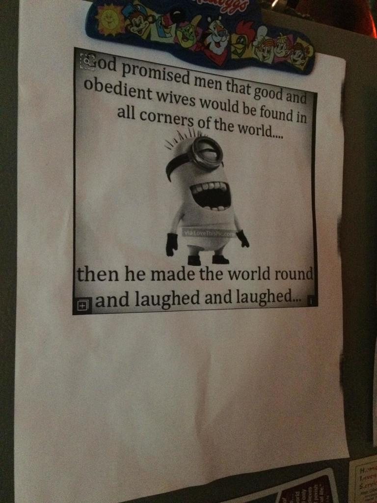 My mother prints Facebook memes and hangs them on the fridge https://t...