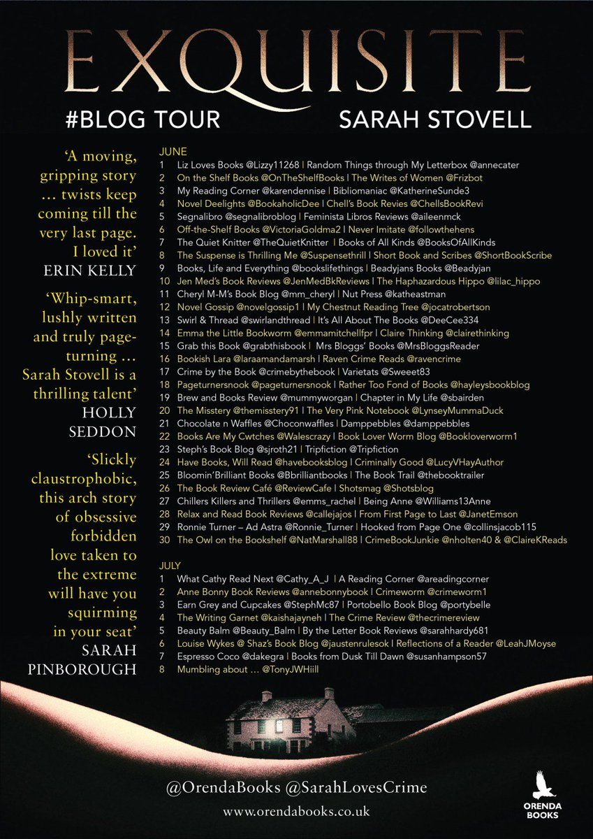 #Blogtour #review: Exquisite by Sarah Stovell @Sarahlovescrime @OrendaBooks  http:// beinganne.com/2017/06/blogto ur-review-exquisite-by-sarah-stovell-sarahlovescrime-orendabooks/ &nbsp; … <br>http://pic.twitter.com/FvezYngAb1