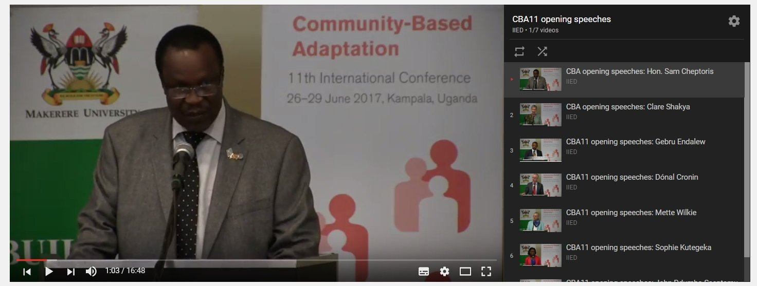 SPEECHES: From the #ParisAgreement to scaling up adaptation, watch 7 of yesterday's opening speeches at #CBA11 --> https://t.co/lEqX9zMI8r https://t.co/68evHCs13t