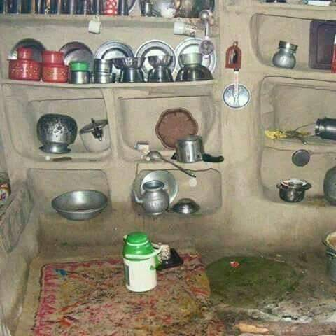 A typical #traditional #Kashmiri #kitchen inside a rural home. Kashmiri #lifestyle is essentially slow paced &amp; reflects diversity.<br>http://pic.twitter.com/fn4yutR9yU