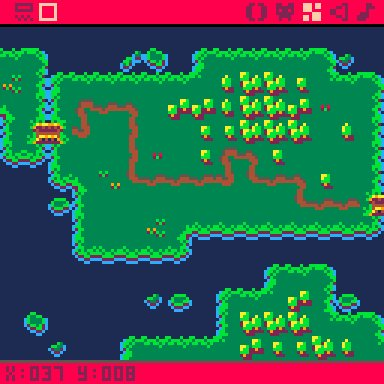 Doodling on the (company) meeting, Added roads.  #pico8 #PixelArt #GameDev #IndieDev<br>http://pic.twitter.com/aPOxQtFC0x