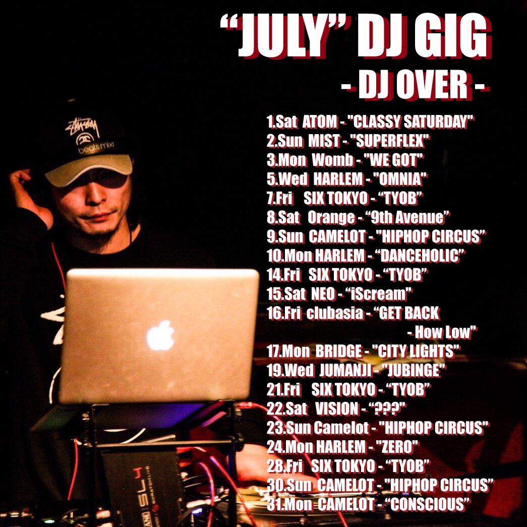 &lt;JULY DJ GIG&gt; DJ OVER  #party #club #event #JUNE #djschedule #dj #djover #djlife #partylife #musiclife #lifeisgood<br>http://pic.twitter.com/JlLWZVmR61