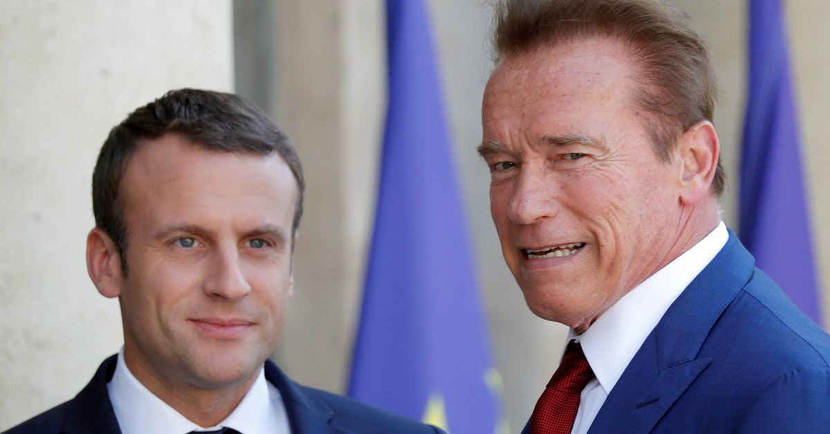 #CLIMATE #p2 RT Schwarzenegger And Macron Troll Trump Over Climate Change  http:// dlvr.it/PQMvrP  &nbsp;   #tlot #2a<br>http://pic.twitter.com/IOxUyOHQ4A