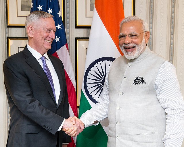 #SecDef Mattis welcomed India's PM @narendramodi to #WashingtonDC yesterday prior to his visit to the @WhiteHouse.<br>http://pic.twitter.com/5hgYLp7SXg