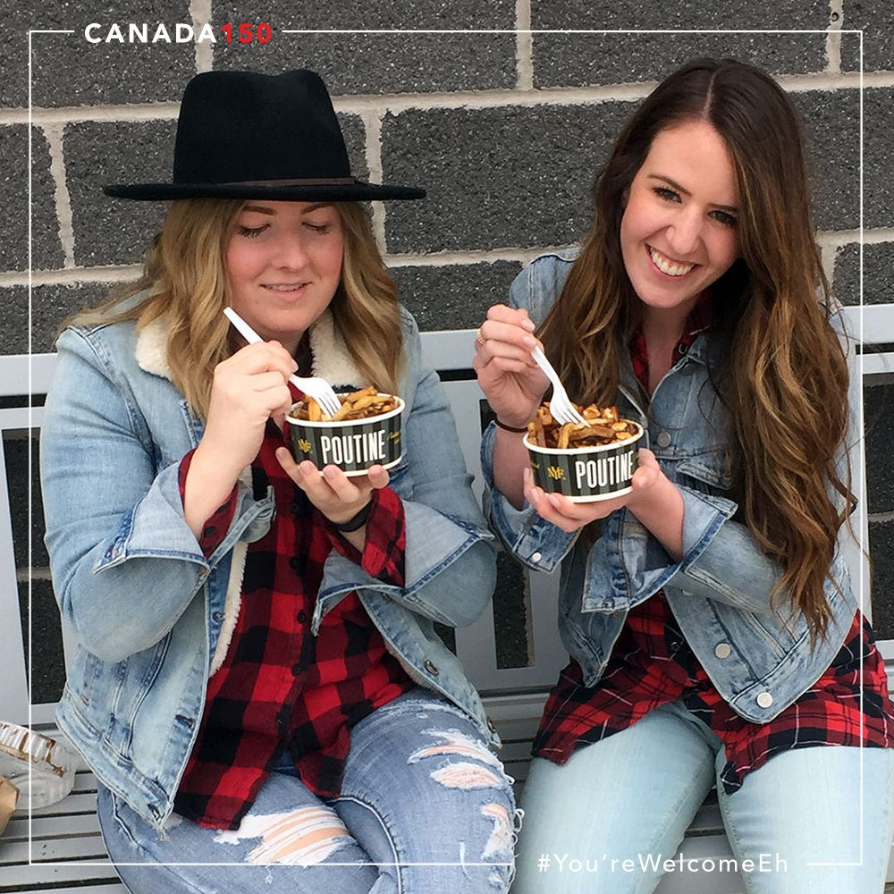 What is more Canadian than pountine??? How about eating poutine in your Canadian tuxedo! Boom. #yourewelcomeeh #canada150  #ohcanada #poutine <br>http://pic.twitter.com/shmlpx6PtI