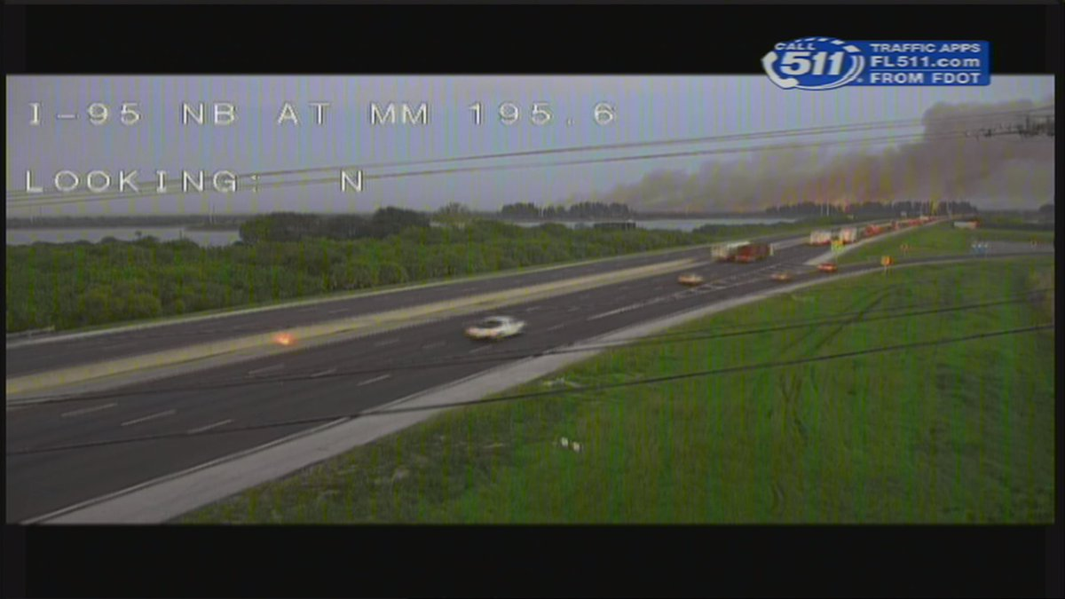 #Breaking - #I95 NB closed again at Fiske Blvd due to the #TuckerFire. SB closed at SR-520 - over 6 miles of I-95 closed in both directions<br>http://pic.twitter.com/Mlg0e2a9YT