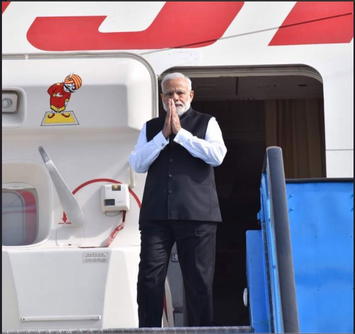 Prime Minister Shri @narendramodi ji arrives at #Amsterdam, Netherlands as a part of his 3 nations tour. <br>http://pic.twitter.com/jwECBPDGev