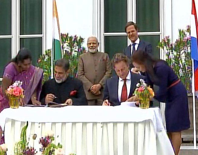 Exchange of MoUs between #India and #Net...