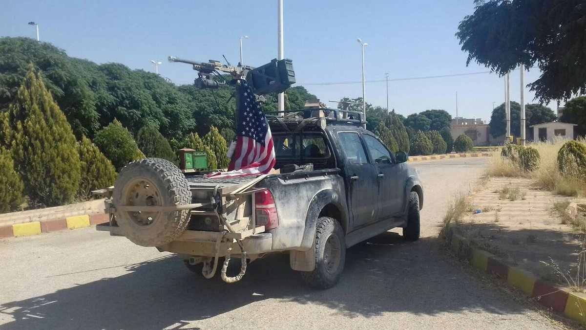 US positioned one armed car on Tell Abyad border to #Turkey: A measure against a possible Turkish incursion against Kurdish #YPG. <br>http://pic.twitter.com/T4UBydm8qn