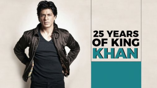 .@iamsrk completes 25 Glorious years in #Bollywood.  We give you his top songs from over the years -  https:// goo.gl/KfVge9  &nbsp;   #AajKyaDekkha<br>http://pic.twitter.com/ZfiMHBTmHt
