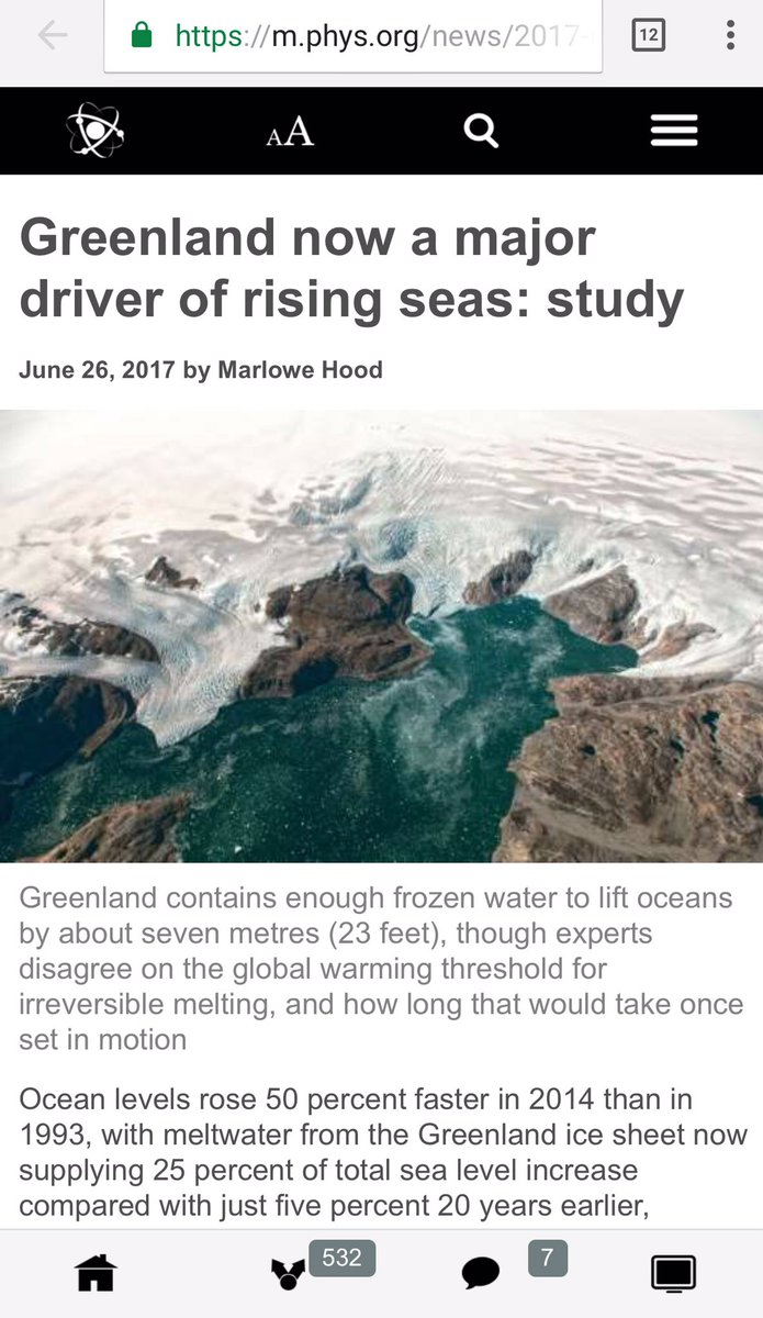 Ocean levels rose 50% faster in 2014 than in 1993, with Greenland now supplying 25% of total sea level increase  #climate <br>http://pic.twitter.com/mCGCWgcAoa