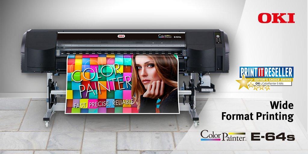 Winner of the @PrintITReseller Editors Choice Award, the new wide format #printer OKI ColorPainter E-64s:  http:// bit.ly/2tfCPZr  &nbsp;  <br>http://pic.twitter.com/3PkQnBiWvM