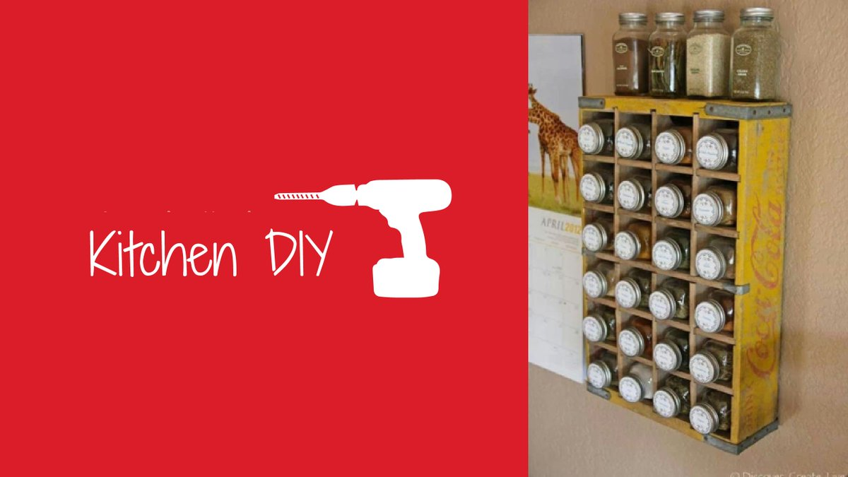 Do you have an old Coca Cola #crate lying around? Why not turn it into a #spice #rack? #KitchenDIY<br>http://pic.twitter.com/qOIHzzTjEN