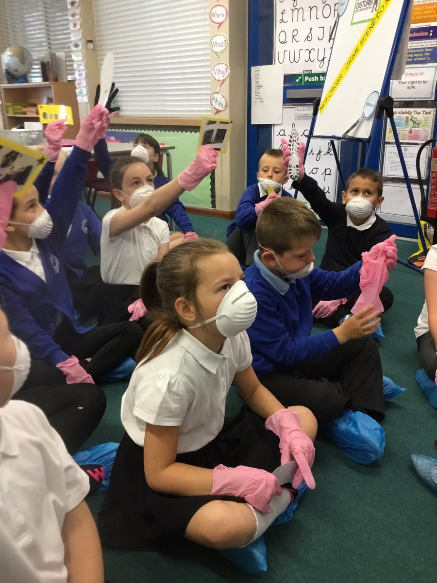 Our Year Three forensic scientists have found lots of evidence...where...