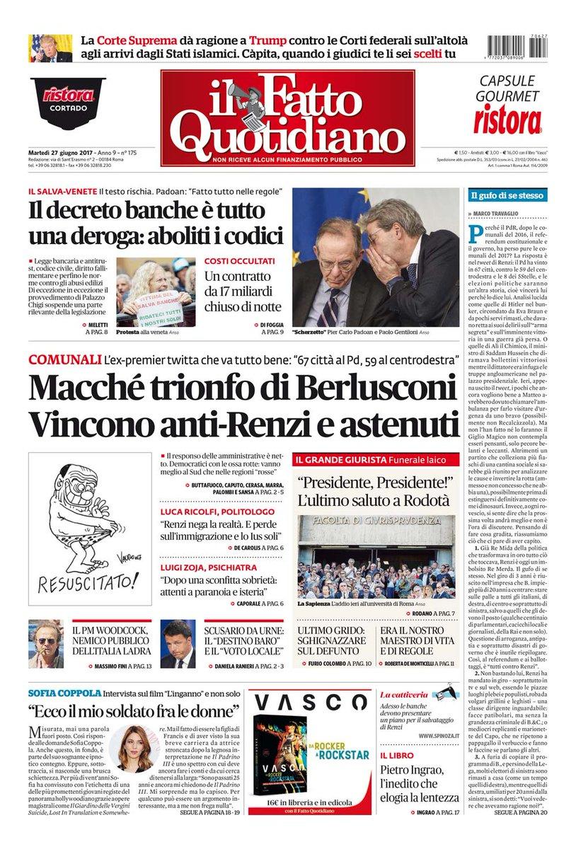Macché trionfo di Berlusconi LEGGI: https://t.co/Zg7CjPLPQP (Il Fatto...