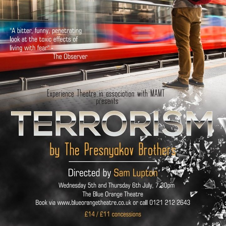 *NEXT WEEK* Relevant &amp; topical @BlueOrangeThtr 5/6th July tickets  http://www. blueorangetheatre.co.uk  &nbsp;   #firstyearsplay #Terrorism RT @MyJQ @WhatsOnBrum<br>http://pic.twitter.com/oZRmS9PUfE