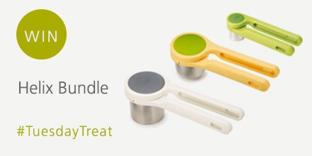 Crush, juice &amp; rice your ingredients with this week&#39;s #TuesdayTreat our Helix food presses:  http:// bit.ly/JJHelix  &nbsp;   RT &amp; Follow to #win <br>http://pic.twitter.com/p8dtQAKLIn