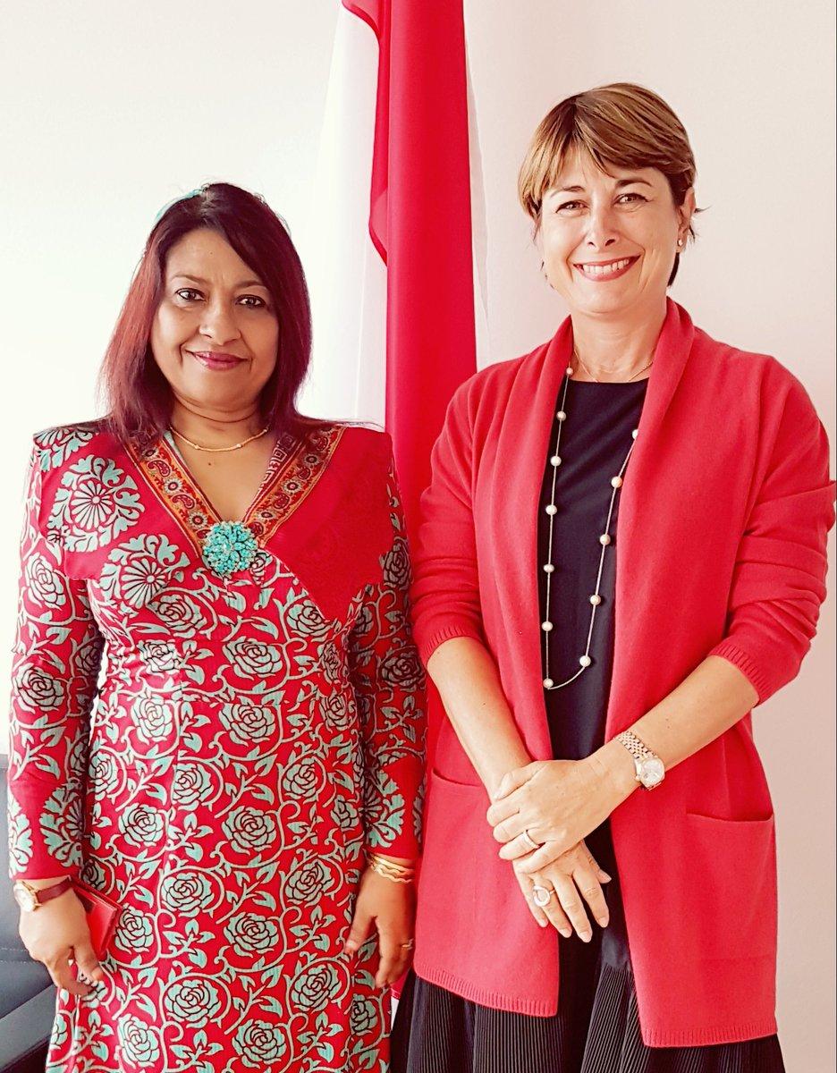 Ambassador Jameela met Ambassador of Monaco to discuss bilateral ties and #Maldives multilateral engagements with #Monaco. <br>http://pic.twitter.com/2slKDTtf9e