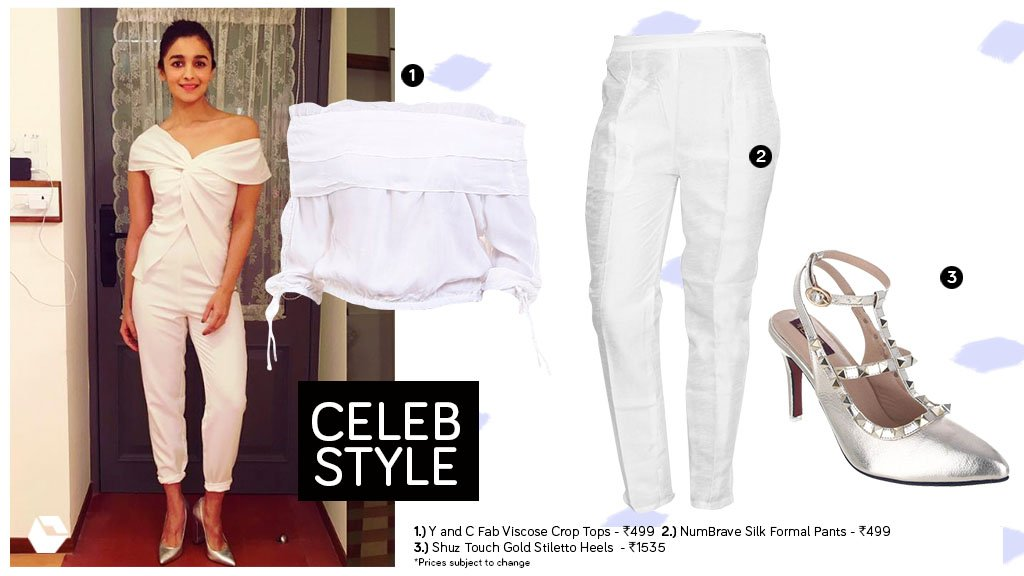 #AliaBhatt is looking #stylish and #trendy in her #allwhiteeverything look.  Grab your #summer look now:  http:// bit.ly/CelebStyleAB2  &nbsp;  <br>http://pic.twitter.com/6mU39SDNKT