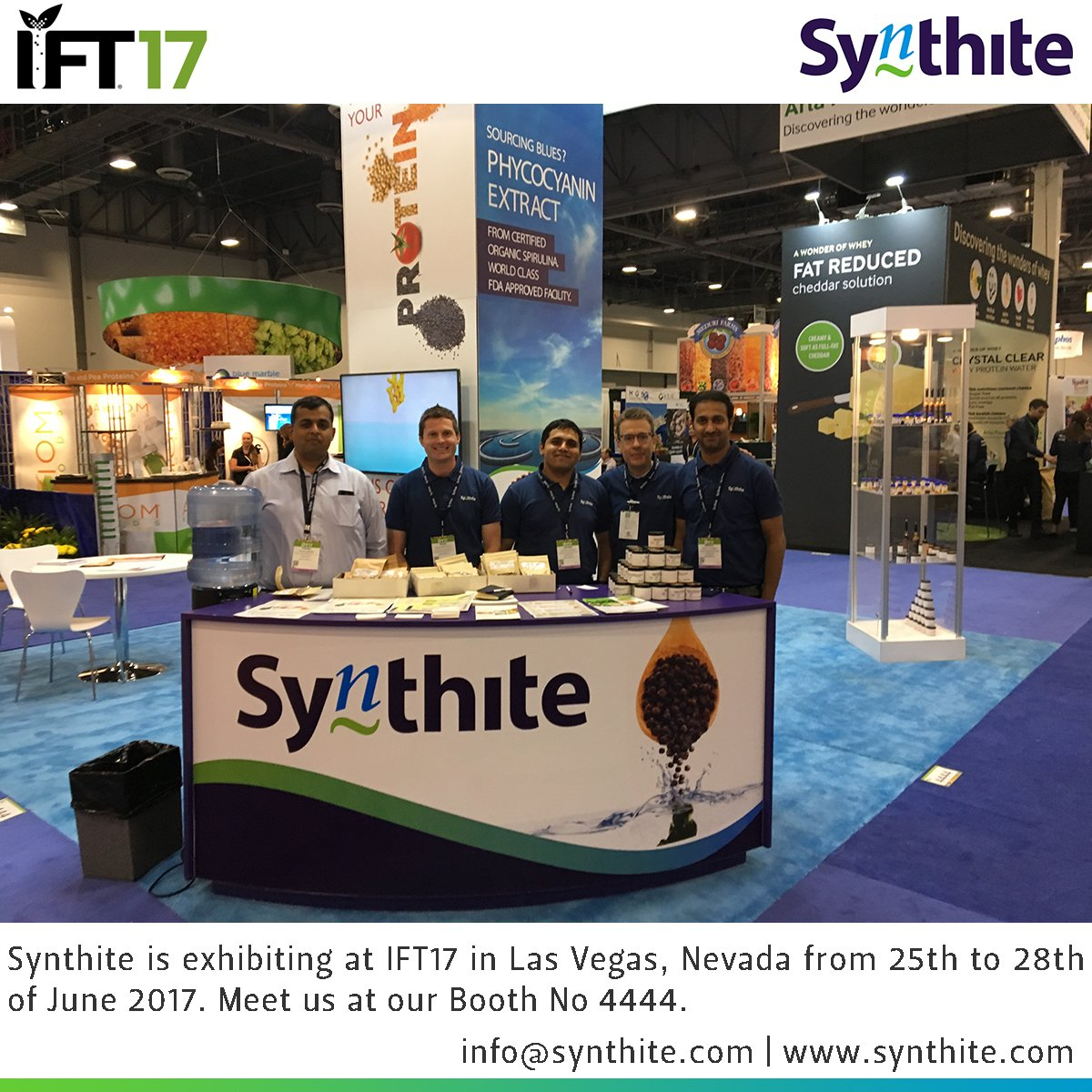 #Synthite is exhibiting at #IFT17 in Las Vegas, Nevada from 25th to 28th of June 2017. Meet us at our Booth No 4444.   #Spice #Oleoresin<br>http://pic.twitter.com/qiXxYCOje9