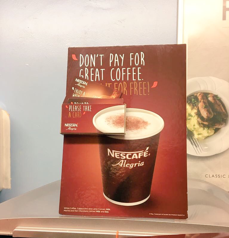 Don&#39;t forget your loyalty card #Wolverhampton #College to enjoy an #Alegria #Coffee for FREE! @NestleProDerick @RhysHumm @NestleProUK <br>http://pic.twitter.com/UfmxGWfNVs