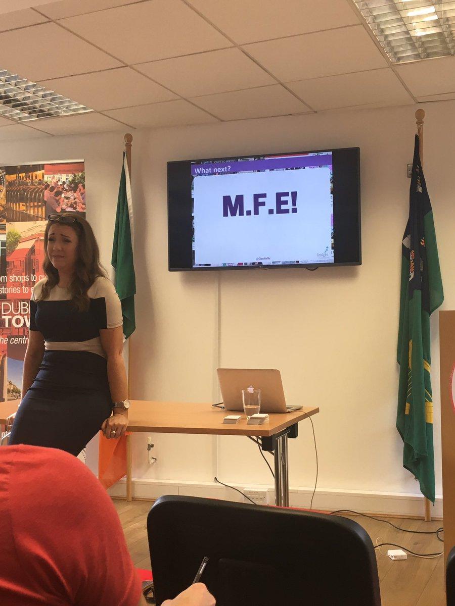 #MeasureFeckingEverything - learning new things this morning from @CiamhieMc at @DublinTown #SocialMedia <br>http://pic.twitter.com/RhrhwLXMdz