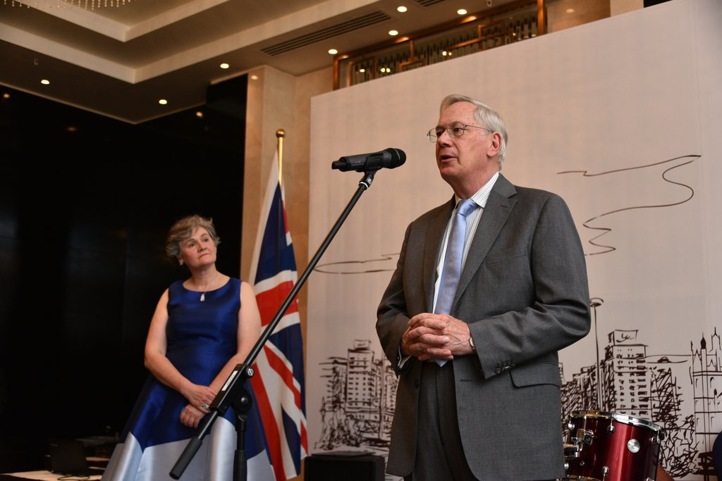 The Duke of Gloucester speaking at the Queen's Birthday Party in #Astana. #design #GREAT<br>http://pic.twitter.com/JKn7VyFNCY