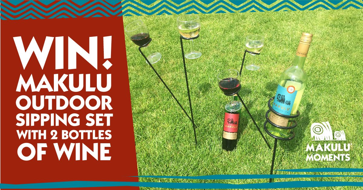 RT and Follow for chance to #win Makulu Outdoor Sipping set complete with 2 x bottles of Makulu and outdoor holder set. <br>http://pic.twitter.com/XfGAPUV9ZF