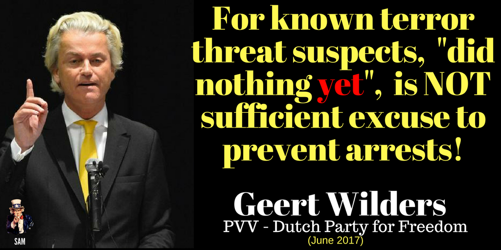 Geert Wilders: We must change laws in order to fight terror threats. Suspects should be arrested!   http://www. telegraaf.nl/t/28480964  &nbsp;    #terror #wilders<br>http://pic.twitter.com/hbVtKmyXcK
