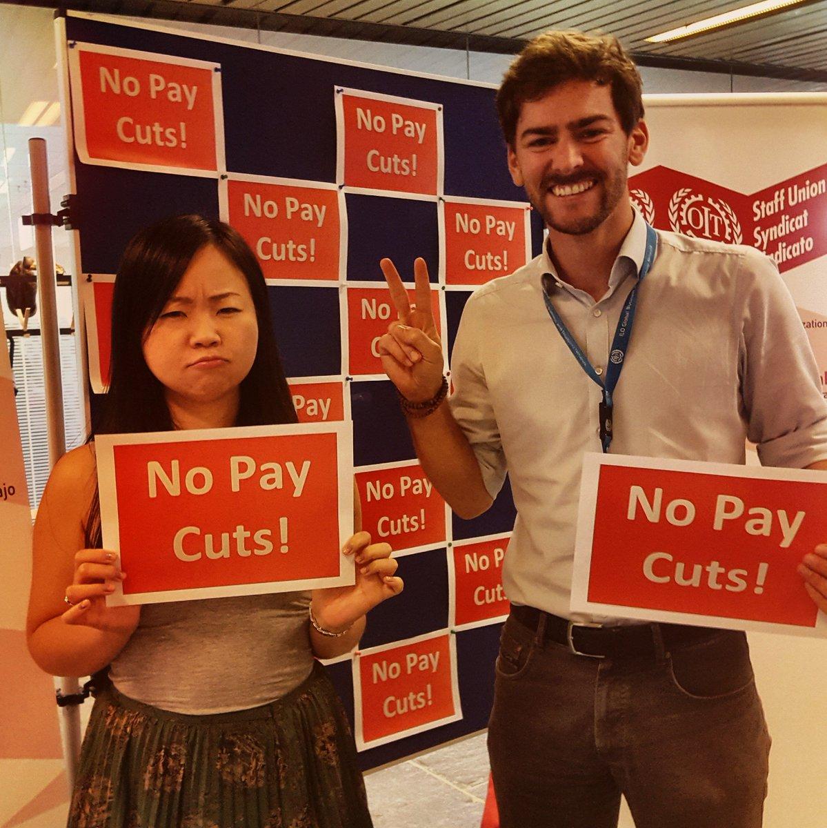 #NoUNPayCut ! Protect #workersrights @UN We need #dialogue &amp; #transparency @ILOUnionPres @FICSAHQ @UNGeneva<br>http://pic.twitter.com/MShvf3Ba3m