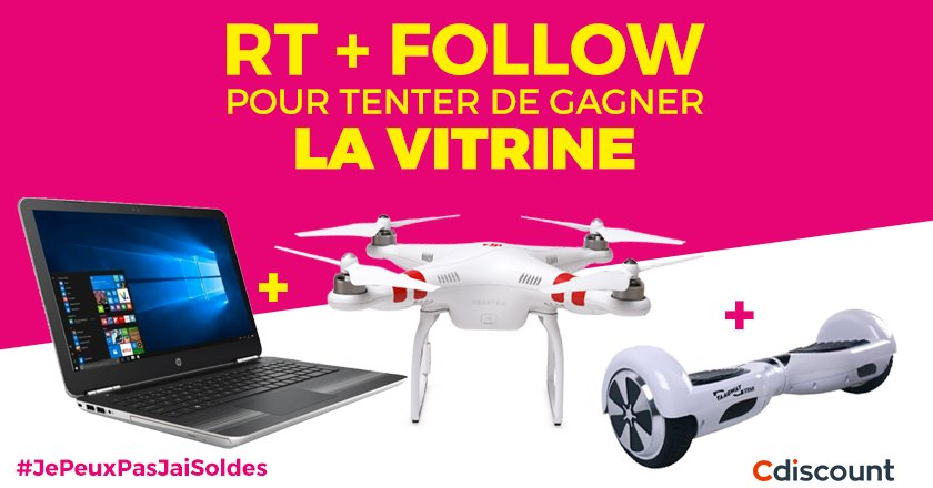 #Concours #JePeuxPasJaiSoldes   #DJI Phantom 2 + PC + Hoverboard   Pour participer : RT + Follow @Cdiscount  TAS 28/06<br>http://pic.twitter.com/XUMkHFh8c3