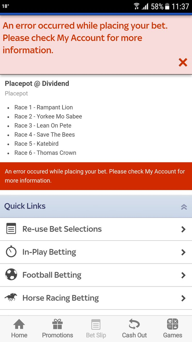 placepot on skybet betting