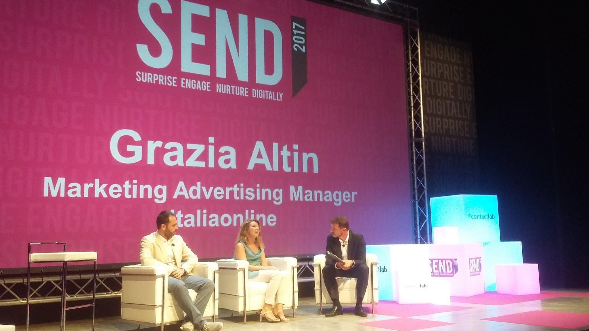 La qualità dell'applicativo @ContactLab per Italiaonline: tempi record per una campagna migliore. Grazia Altin a #SENDSummit17 / @ugobenini https://t.co/P71ZPrZg7n