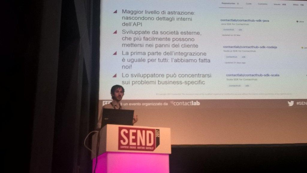 thanks to @buildo SDK for mobile @lucacioria #SENDSummit17 https://t.co/dvibWuZOuc