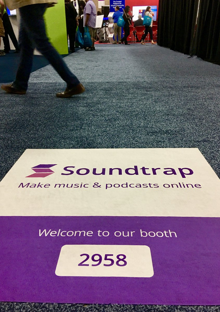 Welcome to our booth (#2958) at #ISTE17!  Win a #Chromebook! #edtech #podcast #musiced #student #empowerment #k12<br>http://pic.twitter.com/4RPIaUTUUA