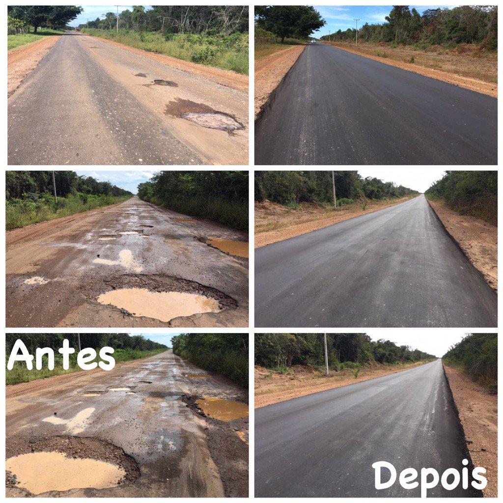 Entre os trechos beneficiados, estamos fazendo a estrada entre Descanso e Coelho Neto.