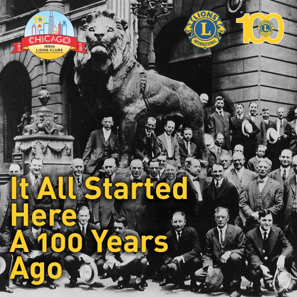Below, the organizational meeting which was held on June 7, 1917. A focal point for the name, &quot;Association of Lions Clubs&quot;. #LCI #Lions100<br>http://pic.twitter.com/Nek4XIeRDy