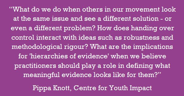 Are we really happy to &#39;lose control&#39; when talking about outcomes? @KnottPippa on #impact in the #youth sector  http:// bit.ly/2tQBgP1  &nbsp;  <br>http://pic.twitter.com/CuHw7vd1ub