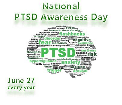 Today is #PTSD Awareness Day. Retweet to spread the word and end the s...