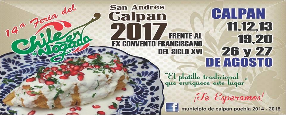 Feria del Chile en Nogada de Calpan 2017
