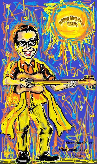 Happy Birthday The Boss R.D Burman!! My Tribute by My Cartoon-