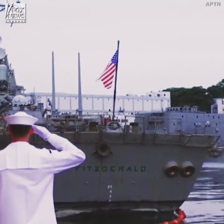 The @USNavy held a memorial service in Japan to honor the sailors who died aboard the USS Fitzgerald in June.