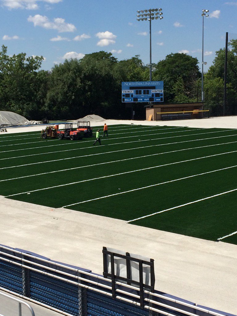 Turf is being installed at Holmgren Athletic Complex.