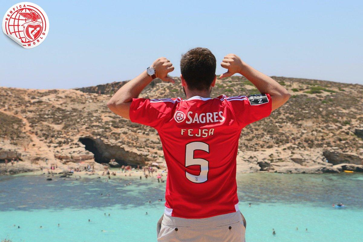 Ilha de Comino, Malta. 🏝 #BenficaWorld