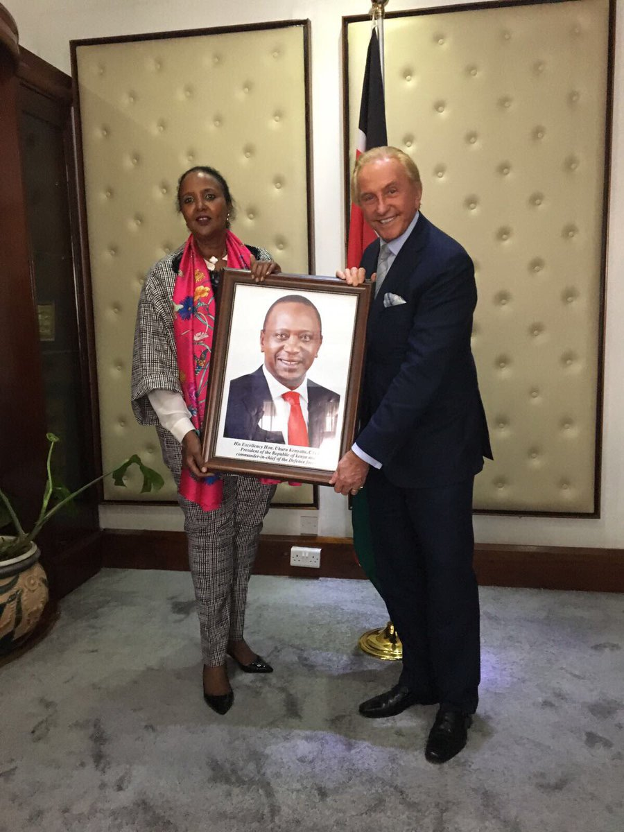 Today was one of the most memorable days of my life! I was appointed the Honorary Consul of the Republic of #Kenya in Monaco. <br>http://pic.twitter.com/oI7FooqNvY