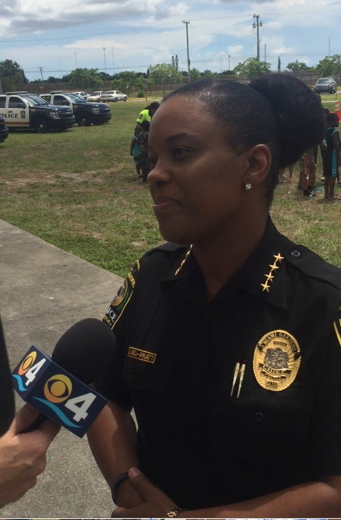 @MGPDFL #Chief Delma Noel-Pratt speaking to @CBSMiami about the Summer Break Spot program, and the newly appointed assistant chief #news<br>http://pic.twitter.com/3NcNTZQZWB